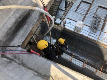 ロープでのエアコン設置 大阪市北区