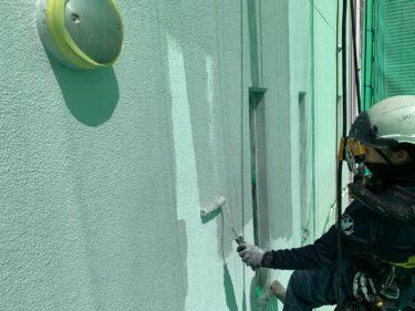 外壁塗装をロープ無足場で大阪市中央区