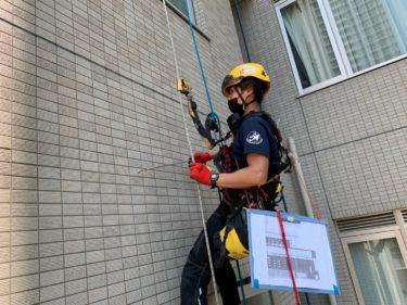 神戸市でタイルの外壁打診調査