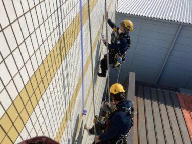 外壁タイル張り替え ロープアクセス